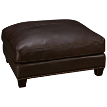 Soft Line Madison Leather Cocktail Ottoman