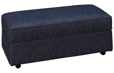 Klaussner Home Furnishings Sparks Accent Storage Ottoman with Pillows