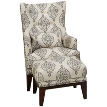 Simon Li Charleston Accent Chair and Ottoman