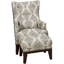 Simon Li Charleston Accent Chair and Ottoman