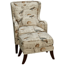 Simon Li Hillsboro Accent Chair and Ottoman