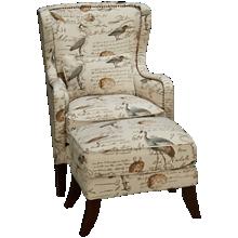 Simon Li Hillsboro Accent Chair and Ottoman
