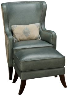 Simon Li Camden Leather Accent Chair & Ottoman