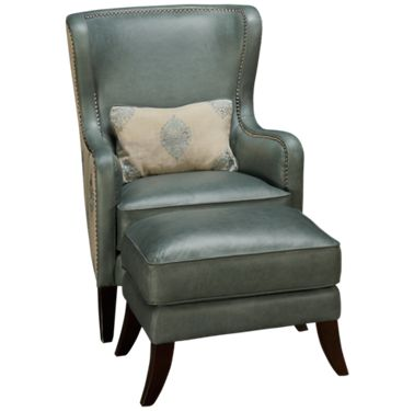 Simon Li Camden Simon Li Camden Leather Accent Chair Ottoman