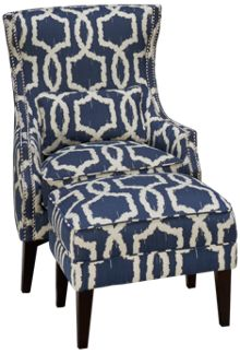 Simon Li Stampede Accent Chair & Ottoman