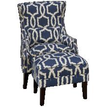 Simon Li Stampede Accent Chair & Ottoman