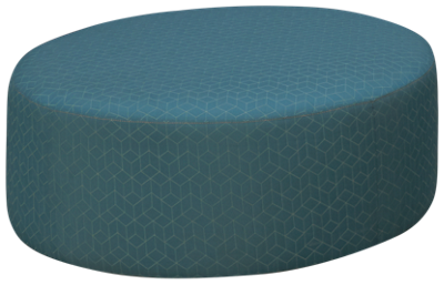 Jonathan Louis Noah Accent Round Cocktail Ottoman