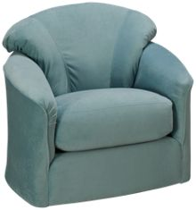 Klaussner Home Furnishings Brewster Accent Swivel Chair