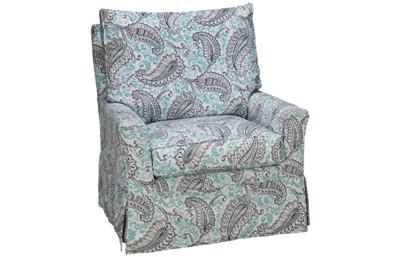 Four Seasons Devin Swivel Glider with Slipcover