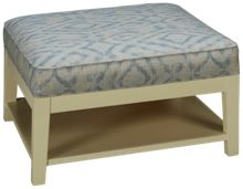 Capris Wood Base Cocktail Ottoman