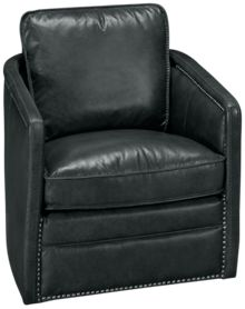 Simon Li Mclean Leather Accent Swivel Chair