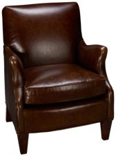 Sam Moore Aunt Jane Leather Accent Chair