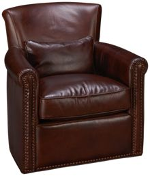 Simon Li Hampton Leather Accent Swivel Chair