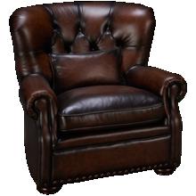 Simon Li Creighton Leather Accent Chair