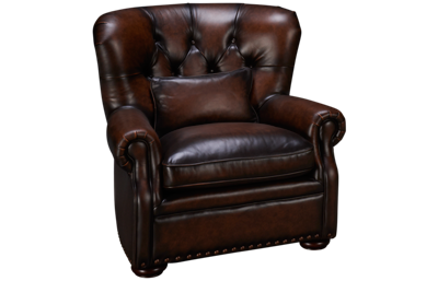 Simon Li Creighton Leather Accent Chair