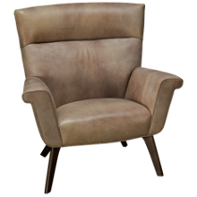 Huntington House Pit Leather Accent Chair