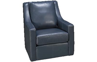Flexsteel Lennox Leather Swivel Chair