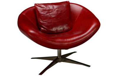 American Leather Parma Leather Swivel Chair