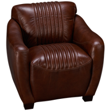 Simon Li Tanglewood Leather Accent Chair