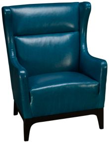 Jonathan Louis Harris Leather Accent Chair