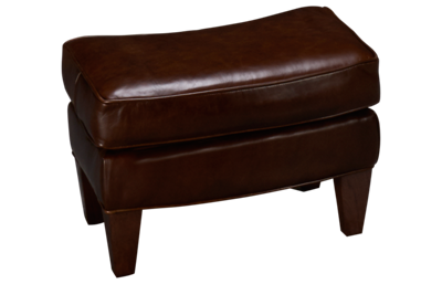 Sam Moore Aunt Jane Leather Accent Ottoman