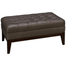 Huntington House Metro Soho Leather Accent Ottoman