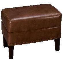 Sam Moore Calvin Leather Accent Ottoman