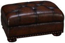 Simon Li Creighton Leather Accent Ottoman