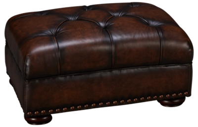 Simon Li Creighton Leather Accent Ottoman