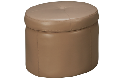 HTL Furniture Leather Accent Storage Ottoman