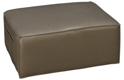 HTL Furniture Leather Accent Ottoman