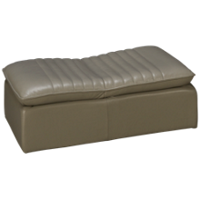 HTL Furniture Leather Accent Convertible Ottoman Chair