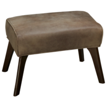 Huntington House Pit Leather Accent Ottoman