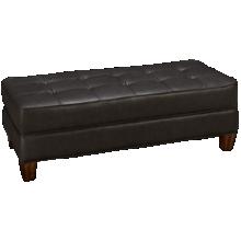 Flexsteel Dorea Leather Ottoman