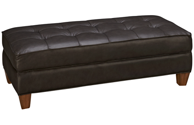 Flexsteel Dorea Leather Rectangular Cocktail Ottoman