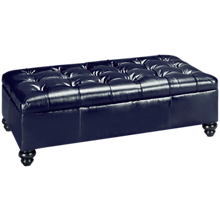 Jonathan Louis Olivia Leather Cocktail Ottoman