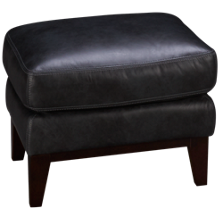 Simon Li Woodstock Leather Accent Ottoman