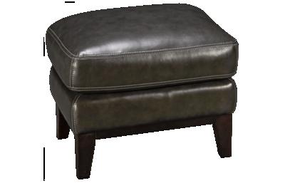 Simon Li Woodstock Leather Accent Ottoman