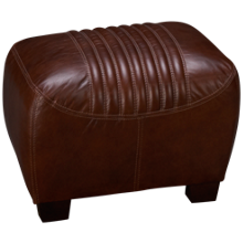Simon Li Tanglewood Leather Accent Ottoman