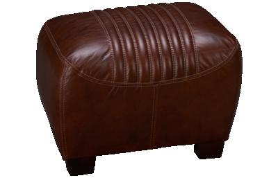 Simon Li Tanglewood Leather Accent Ottoman