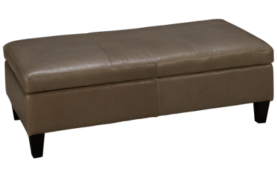 Jonathan Louis Lombardy Leather Accent Medium Rectangle Storage Ottoman