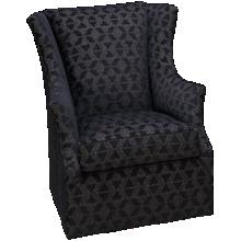 Huntington House Roll Nail Accent Swivel Chair