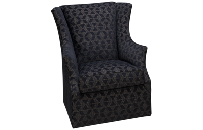 Huntington House Roll Nail Accent Swivel Chair