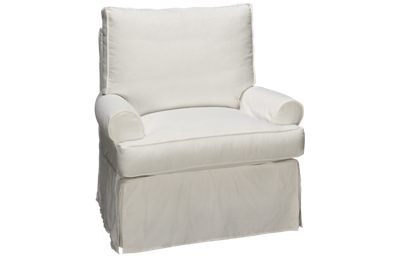 Rowe Sophie Accent Swivel Chair with Slipcover
