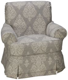 Four Seasons Alyssa Swivel Glider with Slipcover