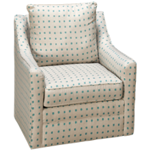 Klaussner Home Furnishings Atlanta Accent Swivel Chair