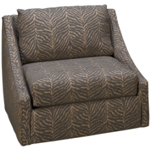 Klaussner Home Furnishings Boden Accent Swivel Chair