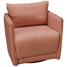 Klaussner Home Furnishings Flagler Accent Swivel Chair
