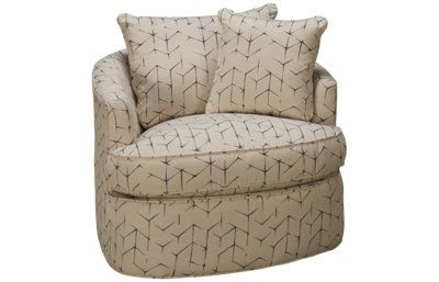 Craftmaster CM Modern Accent Swivel Chair