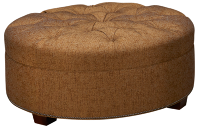 Huntington House Roll Nail Accent Ottoman